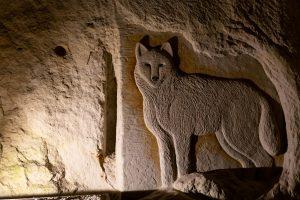 Le loups sur sculpture